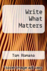 cover of Write What Matters