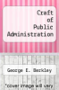 cover of Craft of Public Administration