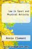cover of Law in Sport and Physical Activity