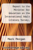 cover of Report to the Minister for Education on the International Adult Literacy Survey, Results for Ireland