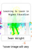 cover of Learning to Learn in Higher Education