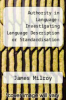 cover of Authority in Language: Investigating Language Description or Standardisation