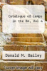 cover of Catalogue of Lamps in the Bm, Vol 4