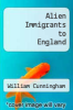 cover of Alien Immigrants to England (2nd edition)