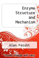Cover of Enzyme Structure and Mechanism 2 (ISBN 978-0716716150)