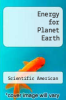 cover of Energy for Planet Earth