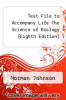 cover of Test File to Accompany Life The Science of Biology (Eighth Edition)