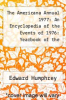 cover of The Americana Annual 1977: An Encyclopedia of the Events of 1976: Yearbook of the Encyclopedia Americana