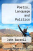 cover of Poetry, Language and Politics