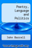 cover of Poetry, Politics and Language