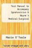 cover of Test Manual to Accompany Ignatavicius & Bayne`s Medical-Surgical Nursing