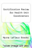 cover of Certification Review for Health Unit Coordinators