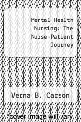 Cover of Mental Health Nursing: The Nurse-Patient Journey EDITIONDESC (ISBN 978-0721668208)