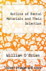 cover of Outline of Dental Materials and Their Selection