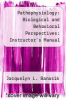 cover of Pathophysiology: Biological and Behavioral Perspectives: Instructor`s Manual (2nd edition)