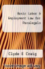 cover of Basic Labor & Employment Law for Paralegals