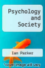 cover of Psychology and Society