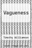 cover of Vagueness