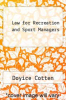 cover of Law for Recreation and Sport Managers (5th edition)