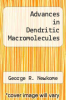 cover of Advances in Dendritic Macromolecules