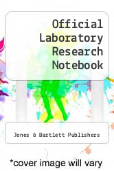 Cover of Official Laboratory Research Notebook 1 (ISBN 978-0763708214)