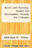 cover of Quick Look Nursing: Growth and Development Through the Lifespan (2nd edition)