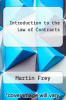 cover of Introduction to the Law of Contracts (3rd edition)