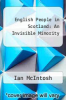 cover of English People in Scotland: An Invisible Minority