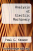cover of Analysis of Electric Machinery (2nd edition)