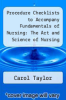 cover of Procedure Checklists to Accompany Fundamentals of Nursing: The Art and Science of Nursing Care (4th edition)