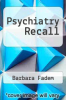 cover of Psychiatry Recall (2nd edition)