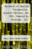 cover of Handbook of Applied Therapeutics, Seventh Edition, for PDA: Powered by Skyscape, Inc. (7th edition)