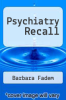 cover of Psychiatry Recall (3rd edition)