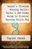 cover of Taylor`s Clinical Nursing Skills+ Taylor`s DVD Video Guide to Clinical Nursing Skills Pkg