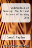 cover of Fundamentals of Nursing : The Art and Science of Nursing Care