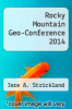 cover of Rocky Mountain Geo-Conference 2014