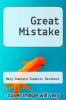 cover of Great Mistake