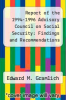 cover of Report of the 1994-1996 Advisory Council on Social Security: Findings and Recommendations