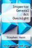 cover of Inspector General Act Oversight