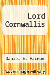 Cover of Lord Cornwallis EDITIONDESC (ISBN 978-0791063972)