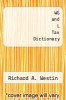 cover of WG and L Tax Dictionary