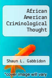 Cover of African American Criminological Thought EDITIONDESC (ISBN 978-0791446959)