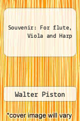 Cover of Souvenir: For flute, Viola and Harp  (ISBN 978-0793509546)