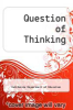 cover of Question of Thinking