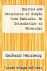 cover of Spectra and Structures of Simple Free Radicals: An Introduction to Molecular Spectroscopy