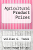 cover of Agricultural Product Prices (2nd edition)