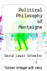 cover of Political Philosophy of Montaigne