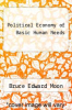 cover of Political Economy of Basic Human Needs