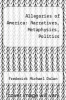 cover of Allegories of America: Narratives, Metaphysics, Politics