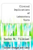 cover of Clinical Implications of Laboratory Tests (2nd edition)
